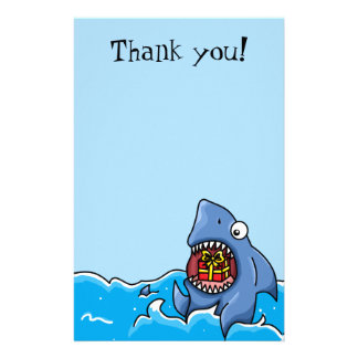 Thank you present Shark customisable stationary Stationery