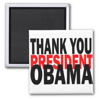 Thank You President Obama 2 Inch Square Magnet