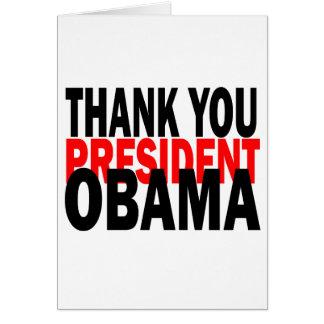 Thank You President Obama Card
