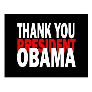 Thank You President Obama Postcard