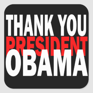 Thank You President Obama Square Sticker
