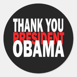 Thank You President Obama Stickers