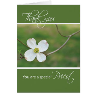 Thank You Priest, Dogwood Blossom Greeting Card