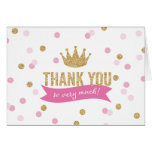 Thank You | Princess Crown Glitter NoteCard Stationery Note Card