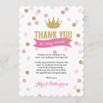Thank You | Princess Crown Glitter Scalloped