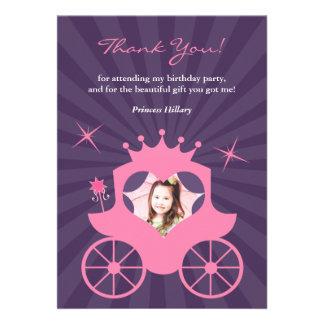 Thank You Princess Photo Card Custom Announcements