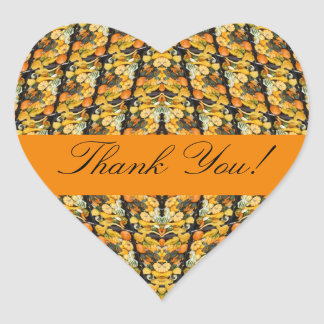 Thank You! Pumpkins, Squash, and Gourds Heart Sticker