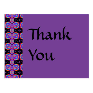 Thank You purple and black Postcard