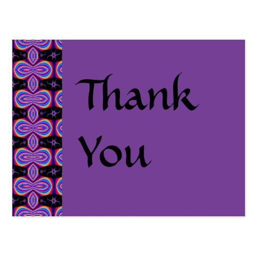 Thank You purple and black Postcard