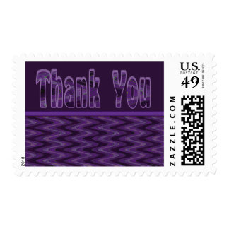 Thank You purple and black Stamp