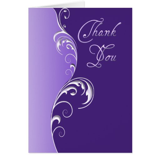 Thank You ~ Purple Cards