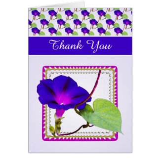 """""""Thank You"""" Purple Morning Glory Photography Card"""