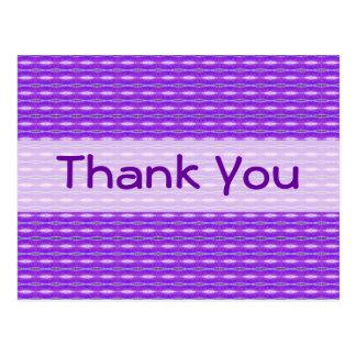 Thank You purple pattern Post Card
