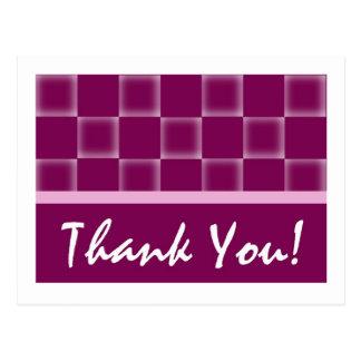 Thank You -Purple Postcard