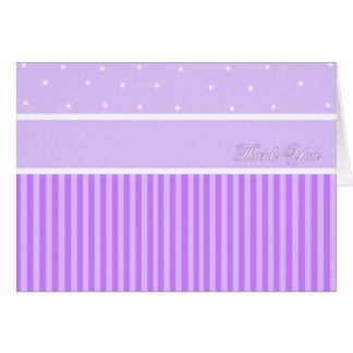 Thank You Purple Stripe Card