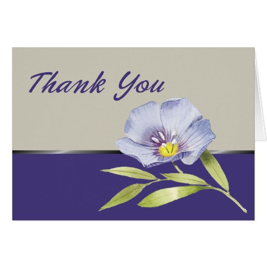 Thank You-Purple watercolor flower Card