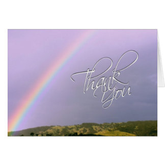 Thank You Rainbow Wishes Card