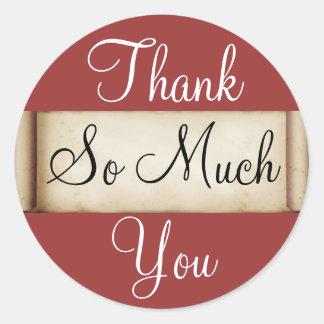Thank You - Raspberry Classic Round Sticker