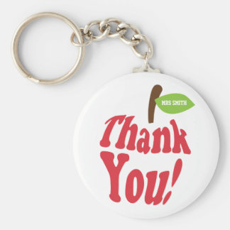 Thank You Red Apple For Teacher Appreciation Keychain