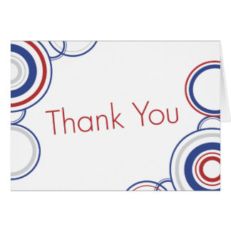 Thank You - Red & Blue Circles Card