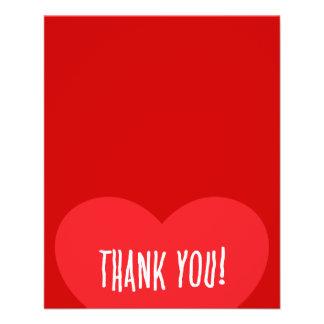 thank you red heart appreciation love friendship s custom flyer. Black Bedroom Furniture Sets. Home Design Ideas