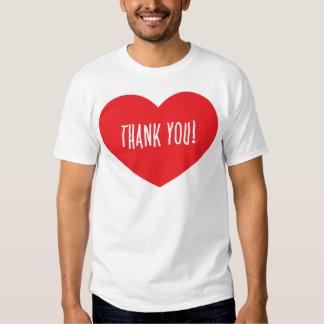THANK YOU RED HEART APPRECIATION LOVE FRIENDSHIP S T SHIRT