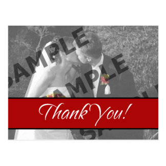 Thank You - Red Postcard