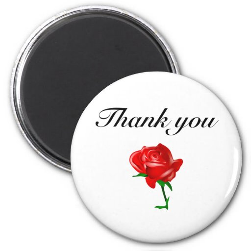 thank you red rose magnets