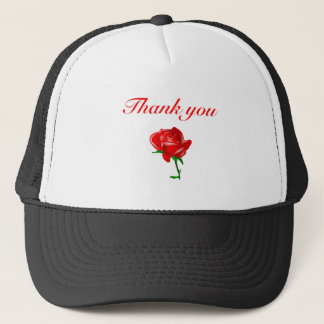 thank you red rose trucker hat