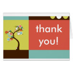 thank you : retro tree stationery note card
