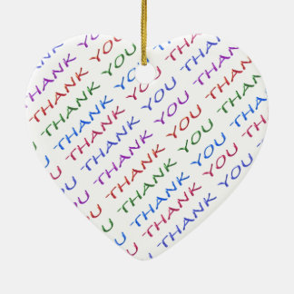 THANK YOU return Gift - What an Idea Double-Sided Heart Ceramic Christmas Ornament