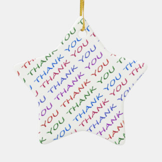 THANK YOU return Gift - What an Idea Double-Sided Star Ceramic Christmas Ornament