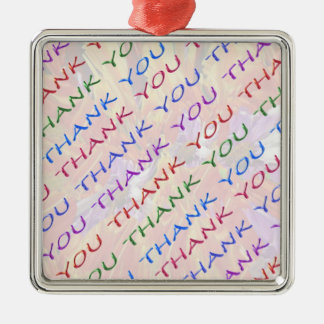 THANK YOU return Gift - What an Idea Square Metal Christmas Ornament