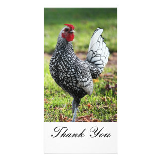 Thank You Rooster Photo Card