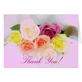 Thank you rose bouquet card
