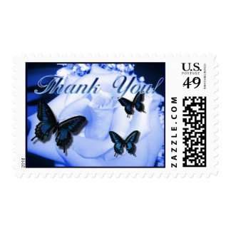 Thank You Rose & Butterflies Stamp