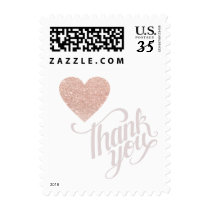 thank you rose_heart love wedding postage