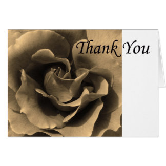 Thank you Rose in Sepia Card