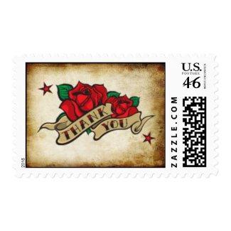 Thank You Rose Urban Tattoo Theme Stamp stamp