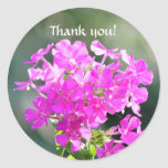 Thank you! round stickers