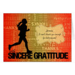 Thank You Running Sports Theme Custom Greeting Card