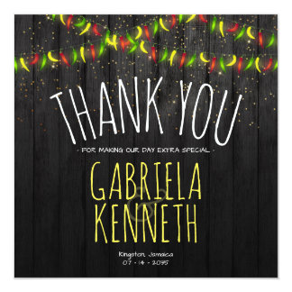 Thank You Rustic Hot Peppers Card