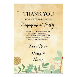 Thank You Rustic Paper Winter Wedding Card