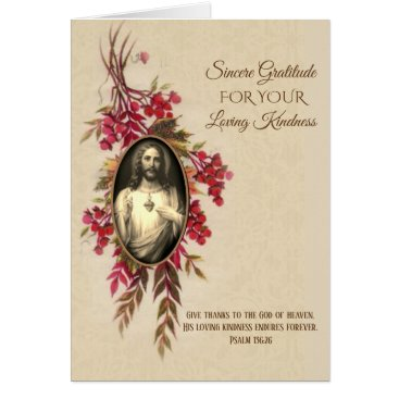 Thank You Sacred Heart Jesus Autumn Flowers