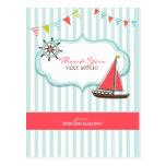 Thank You Sailing Birthday Postcard