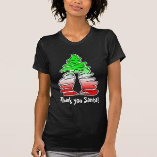Thank you Santa! Cat Christmas Tree T-Shirt