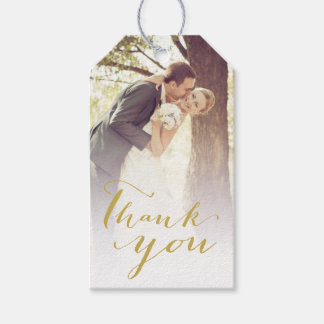 Thank You Script Calligraphy Wedding Gift Tags Pack Of Gift Tags