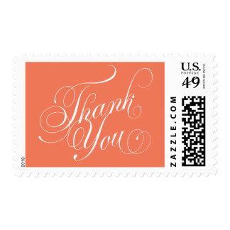 Thank You Script Postage Stamp