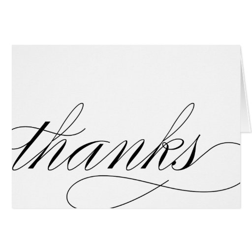 THANK YOU - SCRIPT STATIONERY NOTE CARD