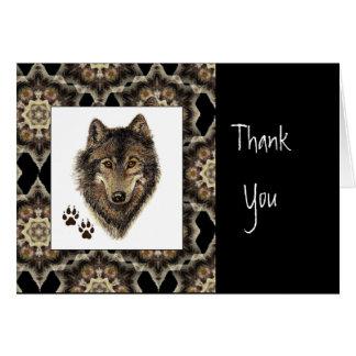 Thank You, Scripture, John 1:16,Wolf Animal Card